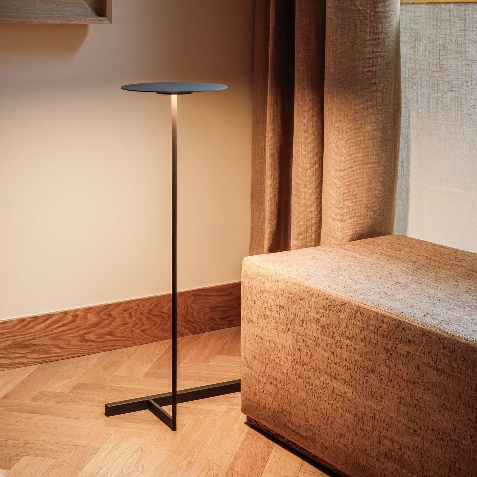 Vibia Flat lampa stojąca 96 cm szara L1 ściemniana