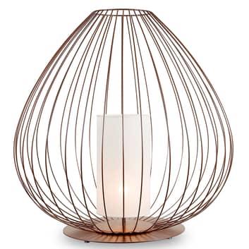Karman Cell - lámpara de pie, jaula, Ø84cm, bronce