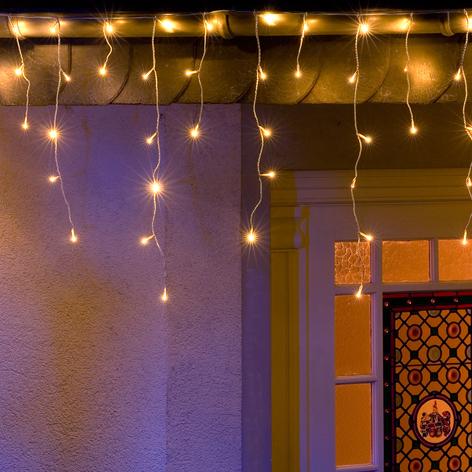Malla 336 luces LED Aguanieve blanco cálido 10,8m