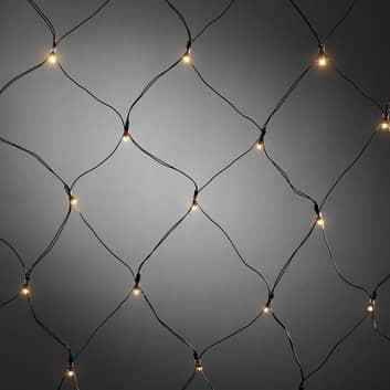 LED-lysnett med tidsur og 40 lys til utendørs bruk