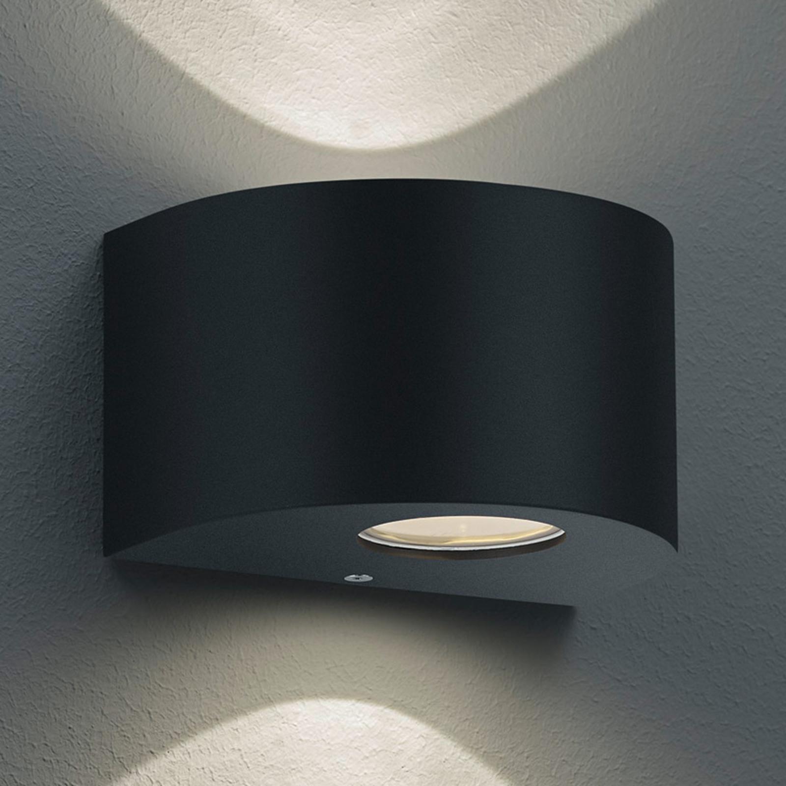 Okrągła kinkiet zewnętrzny LED Rosario, czarny