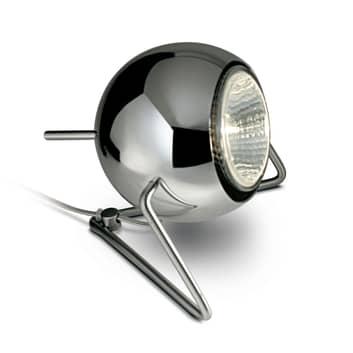 Fabbian Beluga Steel Chrom-Tischleuchte, Ø 9 cm
