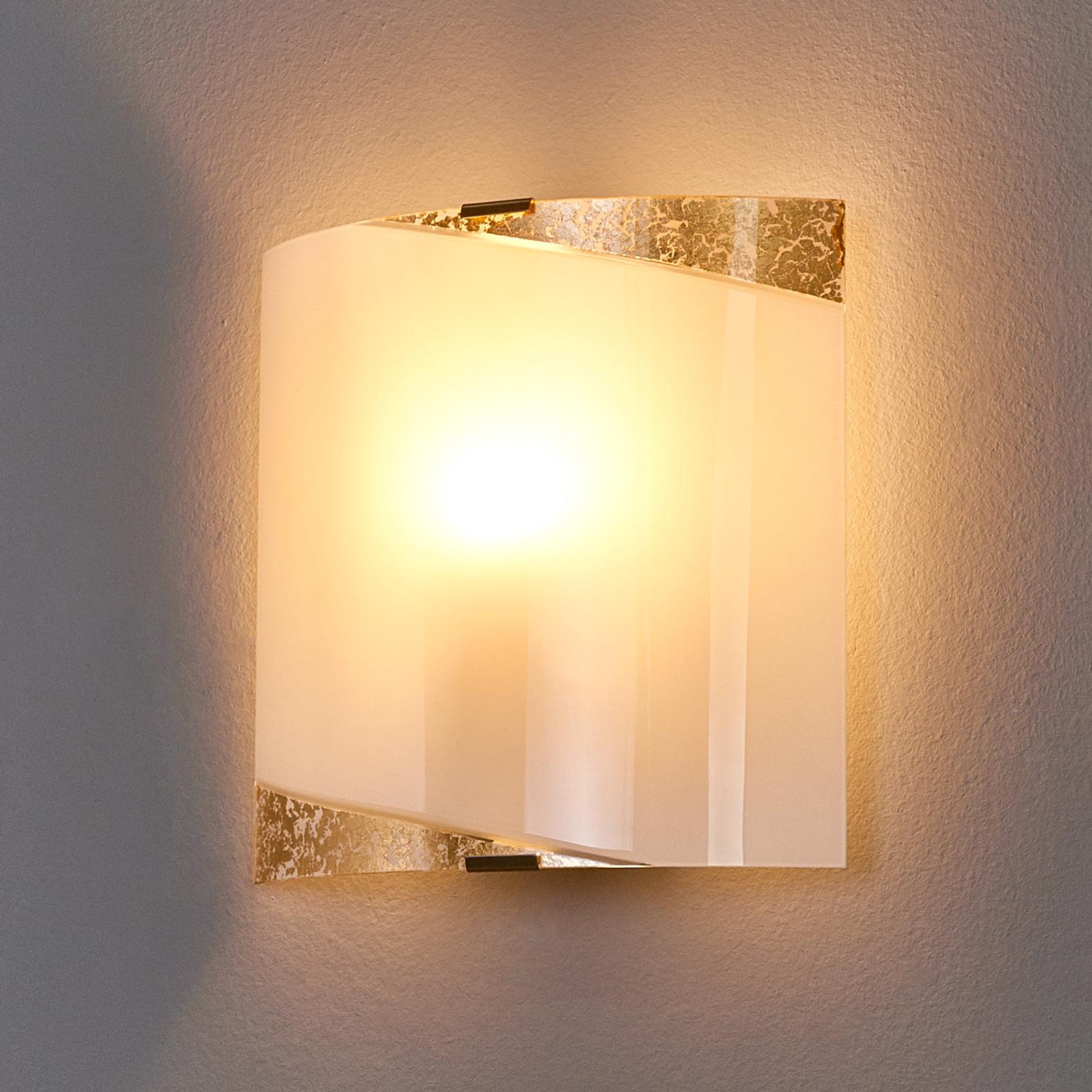 Beatrice - lampada da parete con applicazioni oro