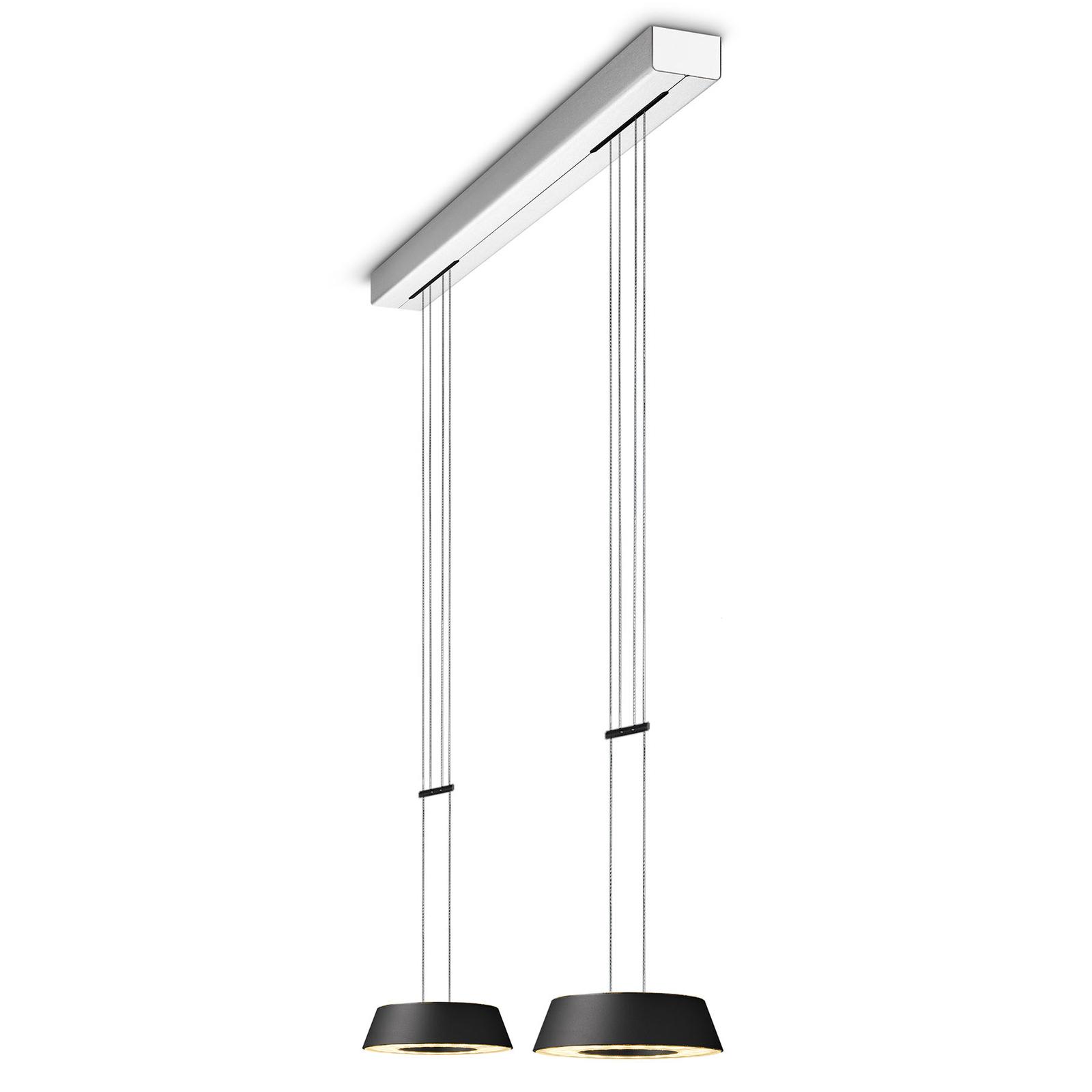 OLIGO Glance LED-Pendellampe zweiflammig schwarz