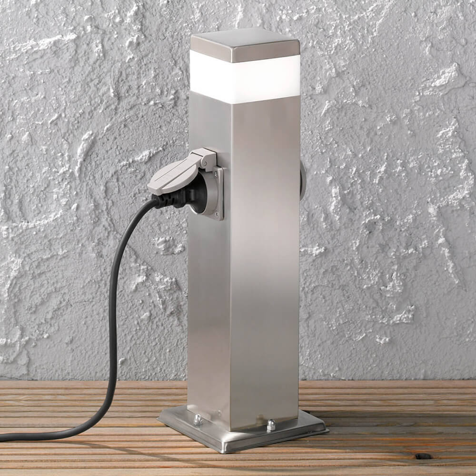 2er Steckdosensäule Tara mit LED-Beleuchtung