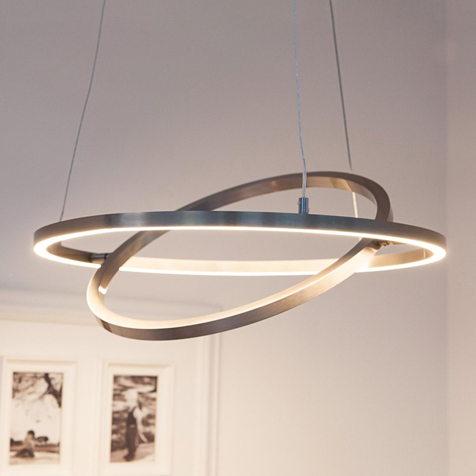 LED-hanglamp Lovisa met twee LED-ringen