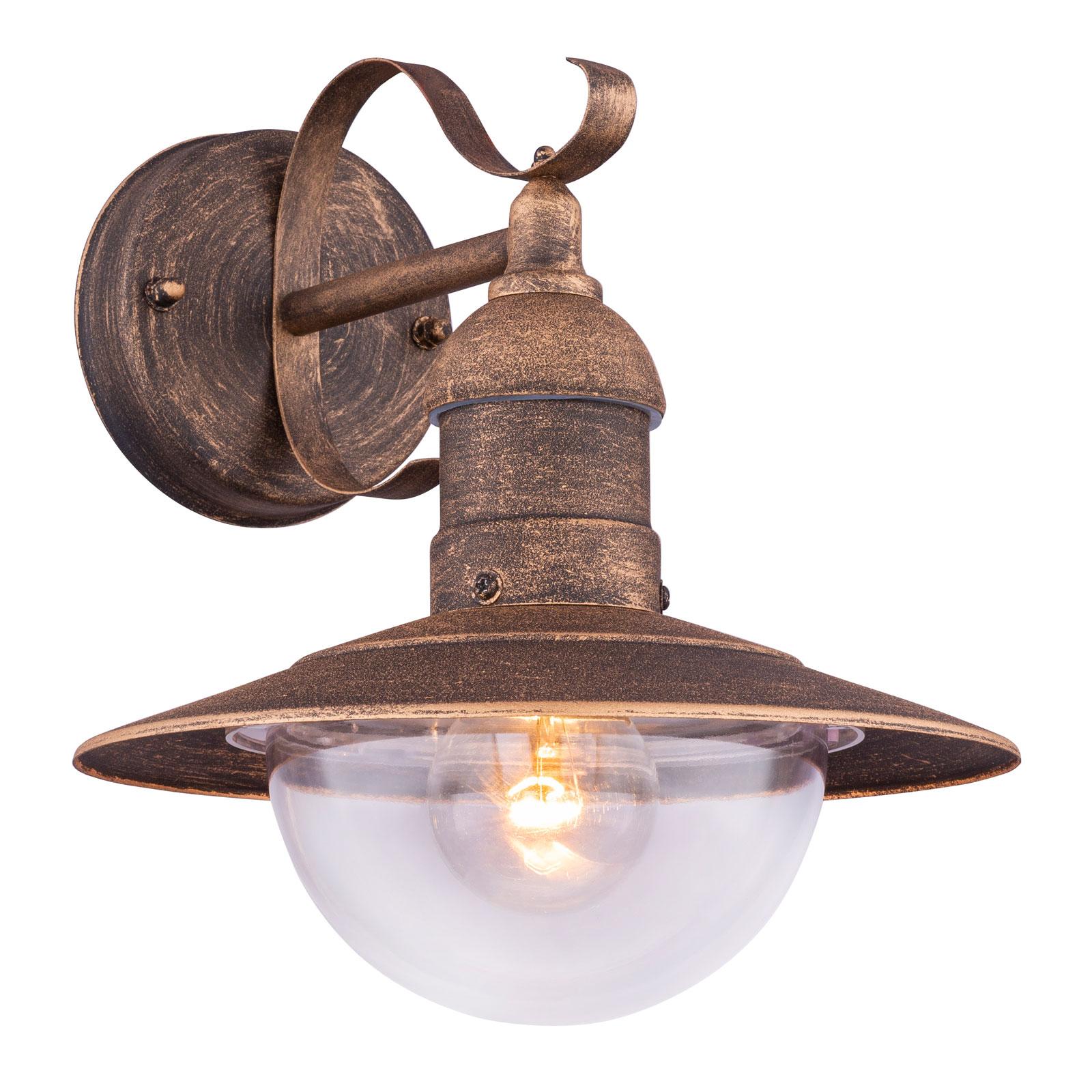 Buitenwandlamp Linda met vintage-roest-optiek