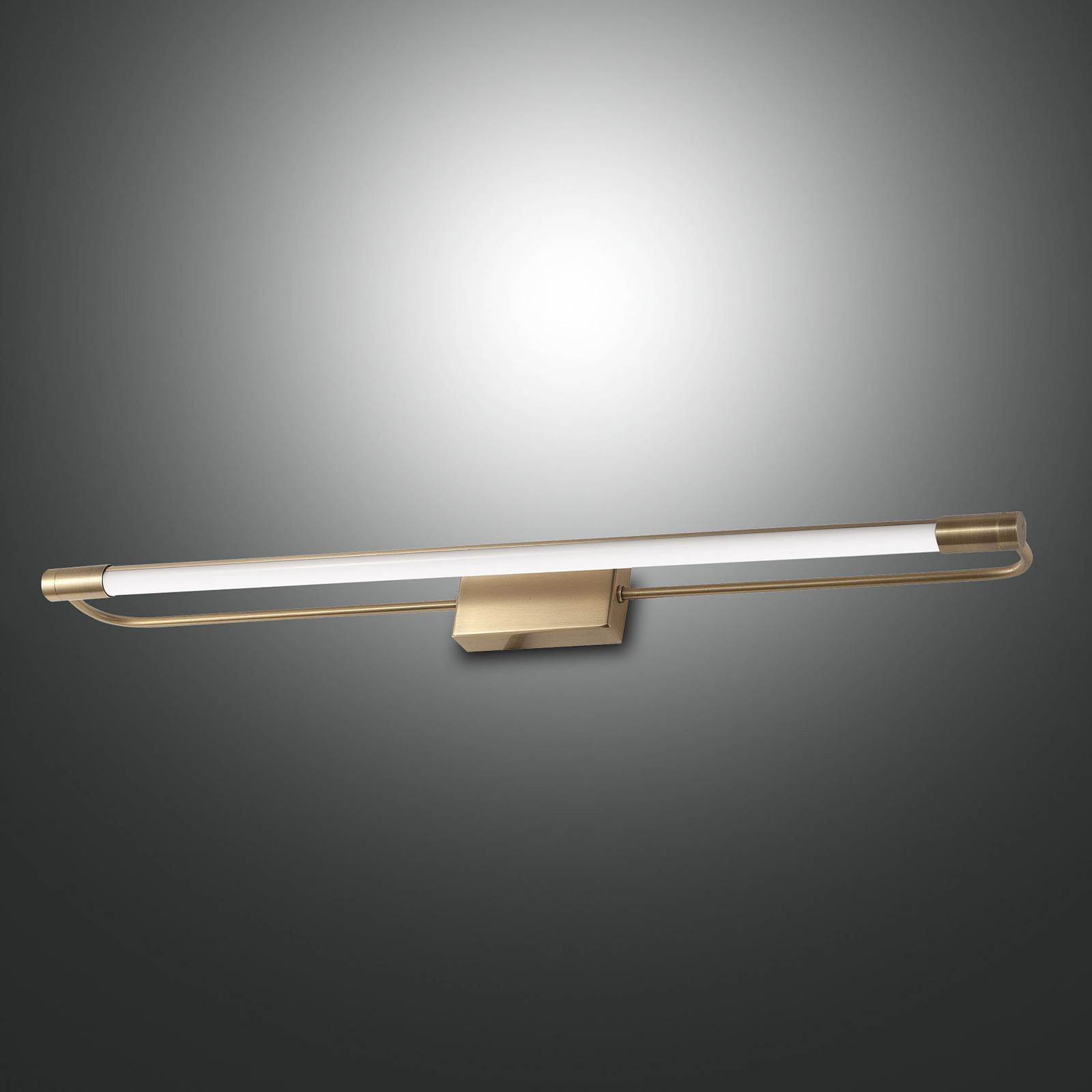LED-Wandleuchte Rapallo, messing, IP44, 80 cm