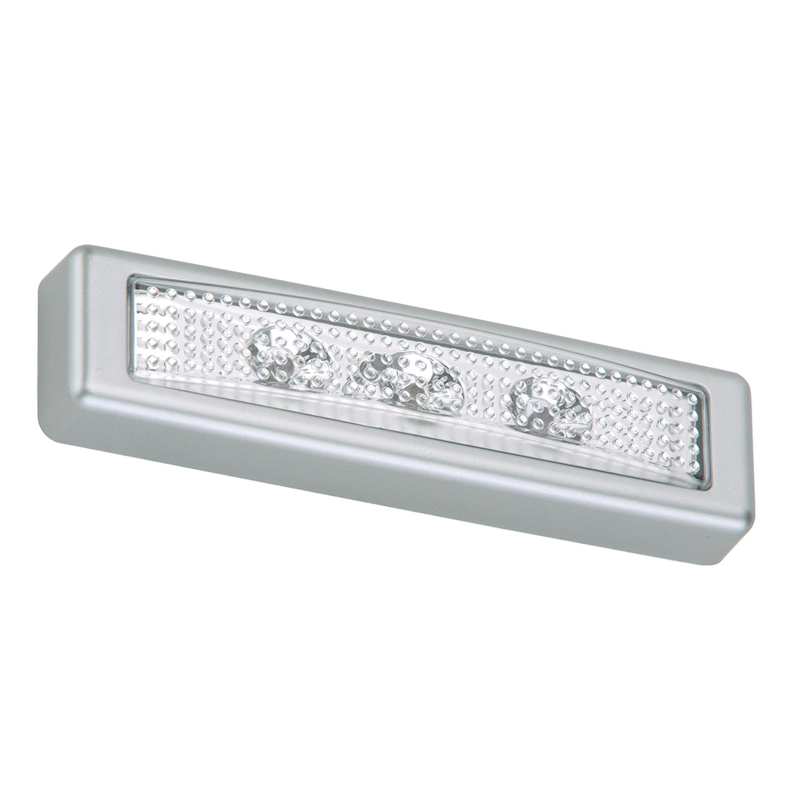 LED-push-lys Lero inkl. batterier og festeflate