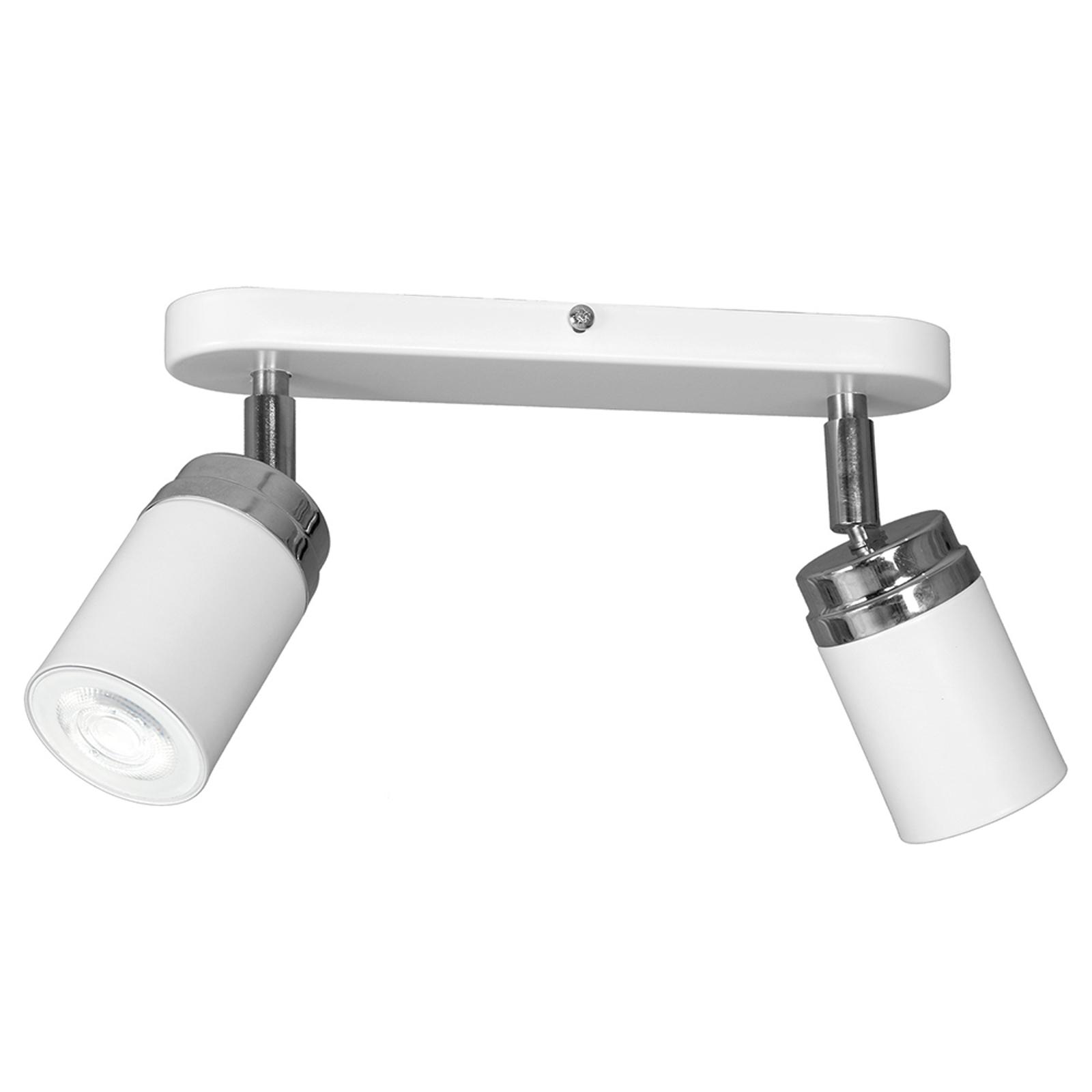 Acquista Spot soffitto Reno, 2 luci, bianco/cromo