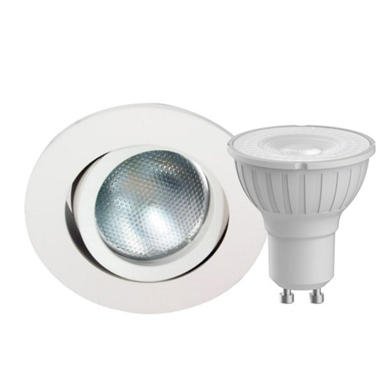 Megaman DecoclicSet LED-indbyg.spot GU10 5W hvid