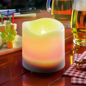 Vitt LED-solarljus Candle Light