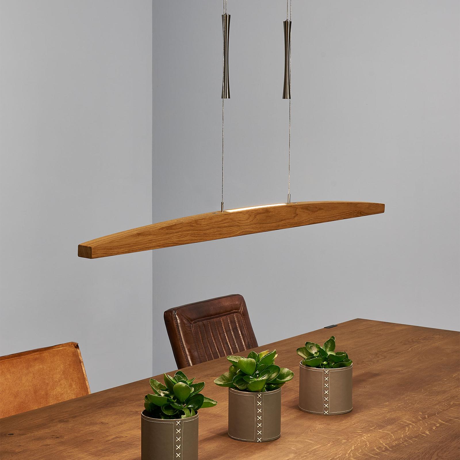 HerzBlut Arco LED-Hängelampe Klick&Dim Eiche geölt