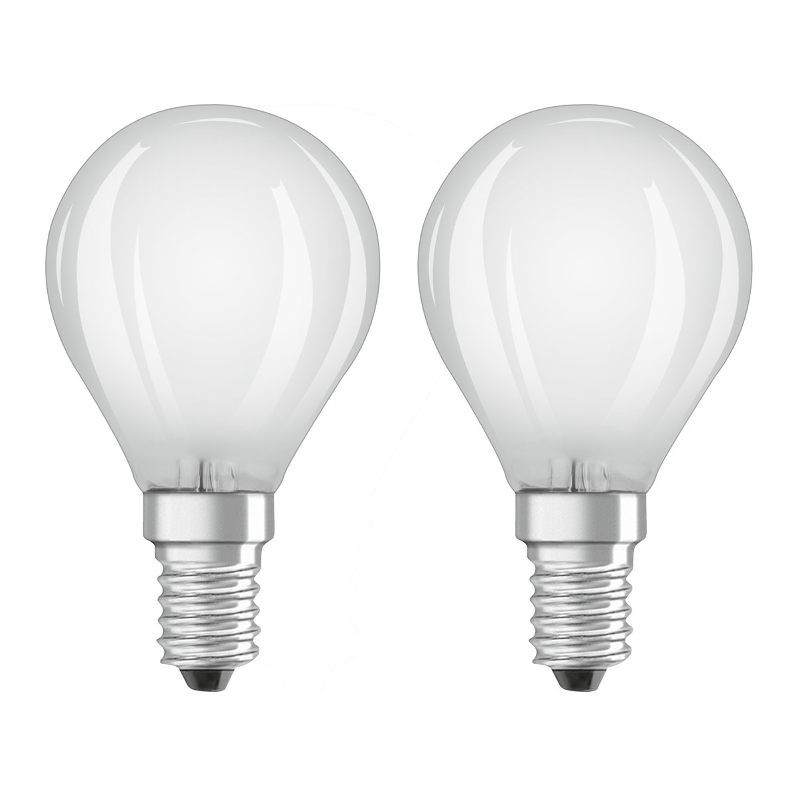 OSRAM LED-Tropfenlampe E14 4W warmweiß 2er-Pack