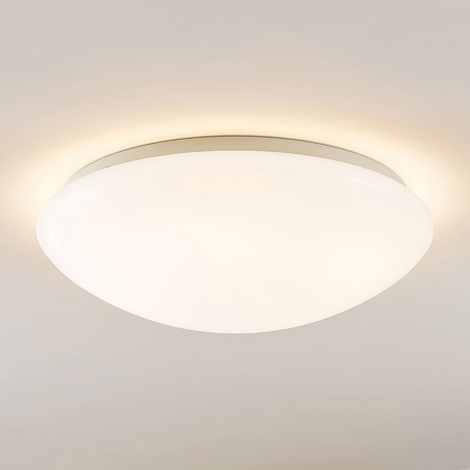Arcchio Younes lampa sufitowa LED, biała, 40 cm