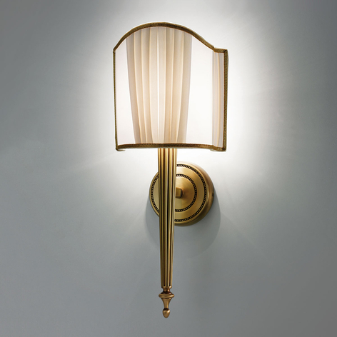 Belle Epoque vegglampe i antikk messing