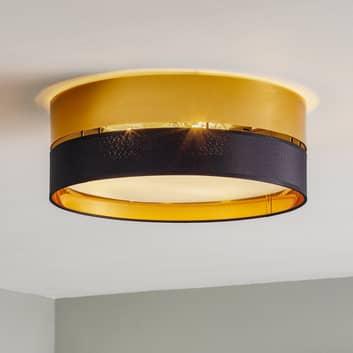Hilton loftlampe, sort/guld, Ø 45 cm