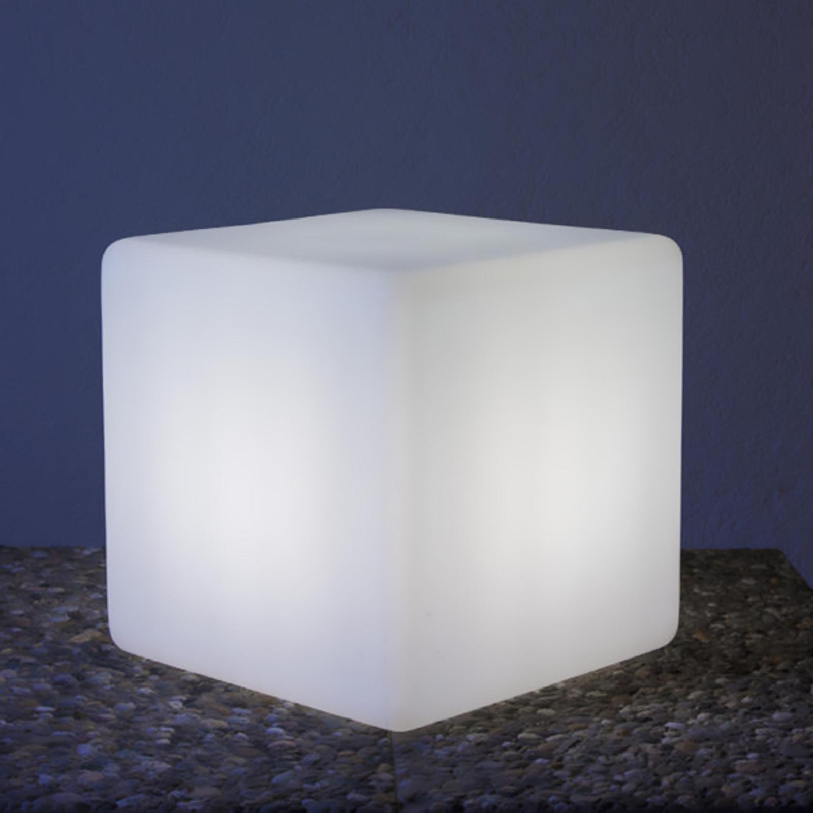 Pregiata lampada cubica Cube, 35 cm