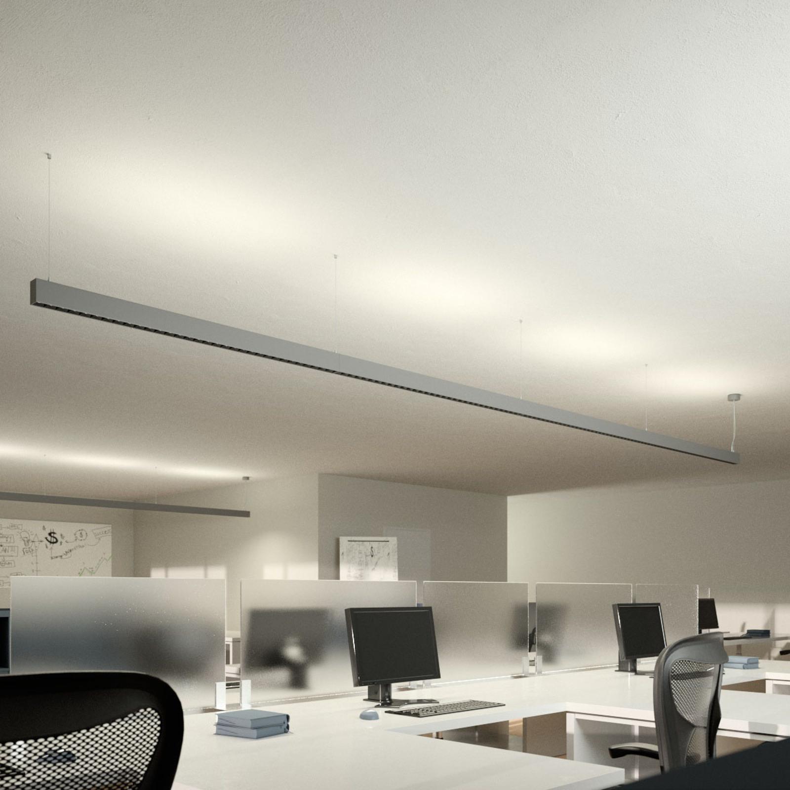 LED-pendellampe til kontor Laris, sølv