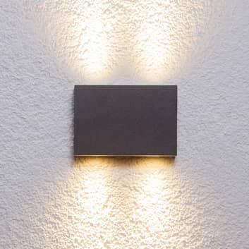 Kantet udendørs væglampe Henor med 4 LED