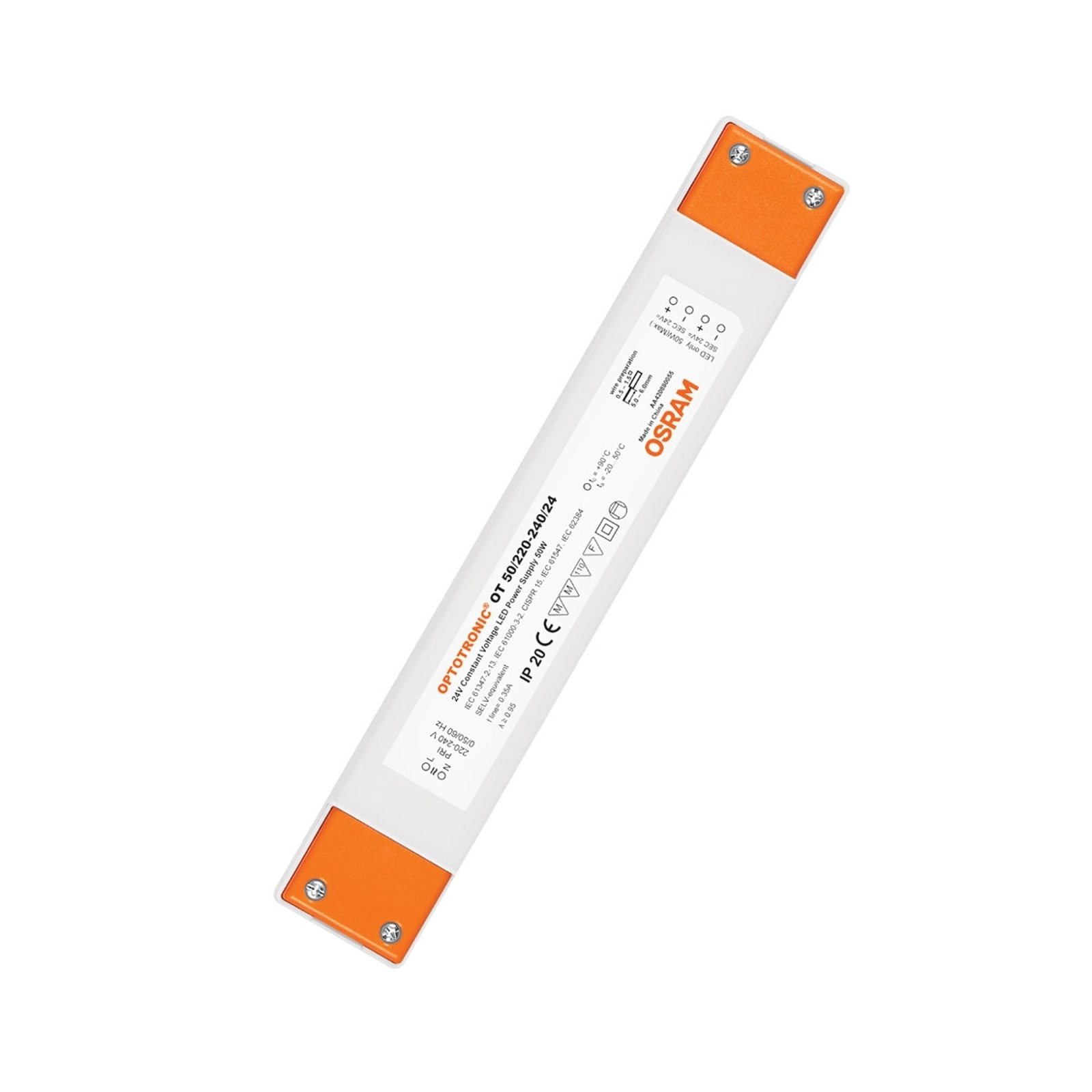 LED-Treiber 24V Konst.-Spg. 50W Optotronic IP20