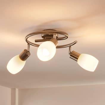 Lindby Arda LED-Strahler, Glas dreiflammig Rondell