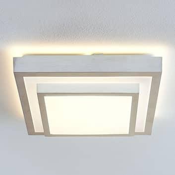 Lindby Mirco LED-Alu-Deckenlampe, eckig, 37,5 cm