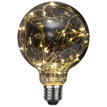 LED-Globelampe E27 1,5W G95 Dew Drop 2.900K smoke