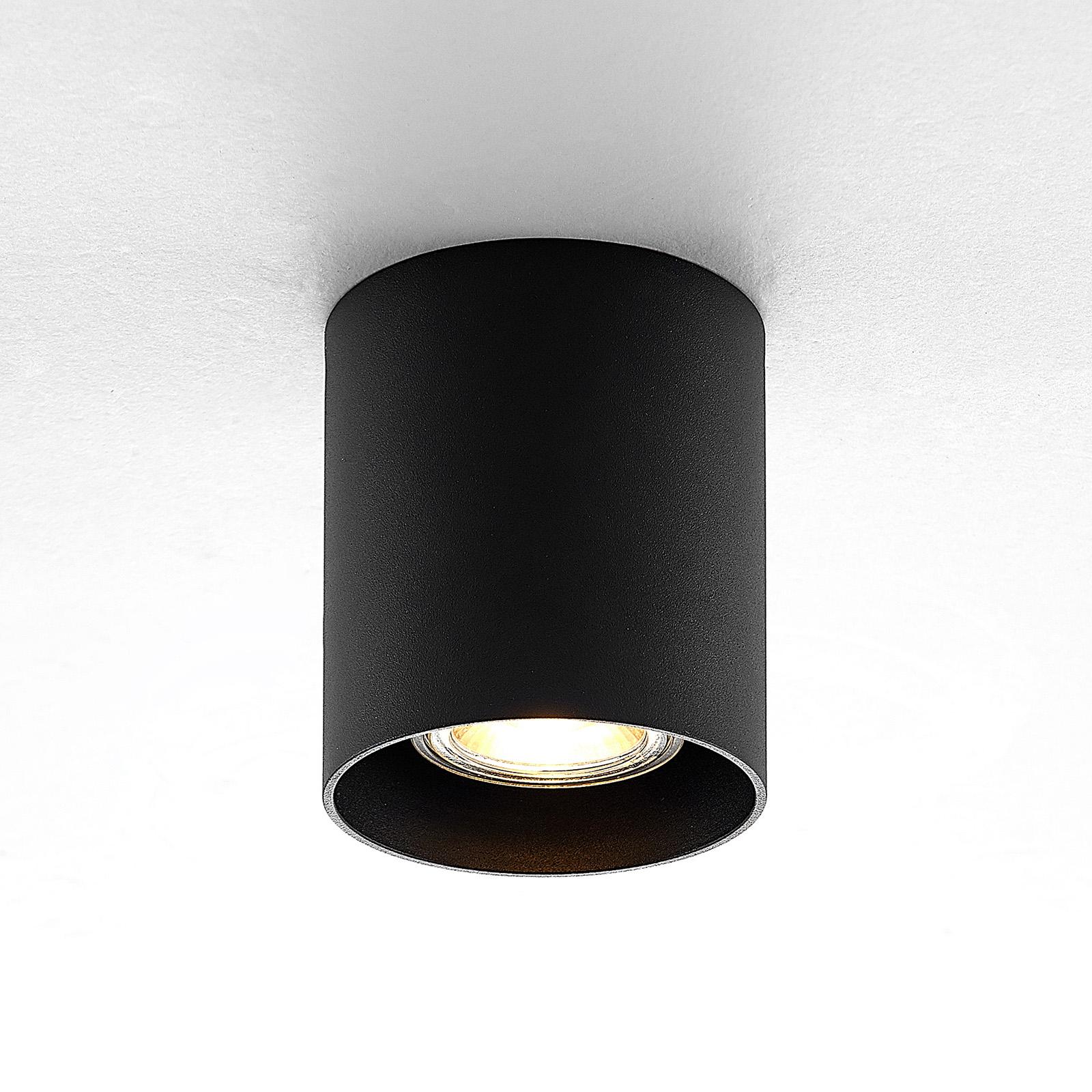 ELC Efey stropní světlo, GU10, kulaté, černé