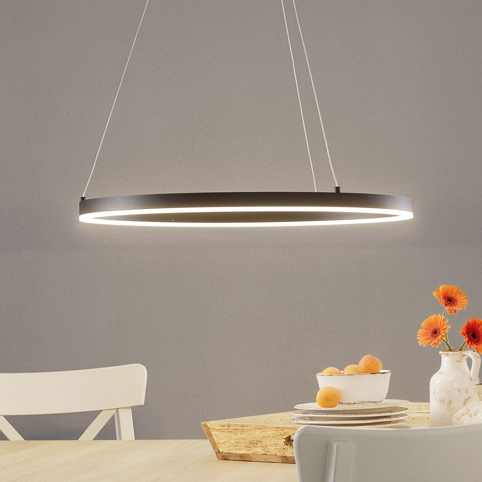 Lampa wisząca LED Vaasa ściemniana, czarna