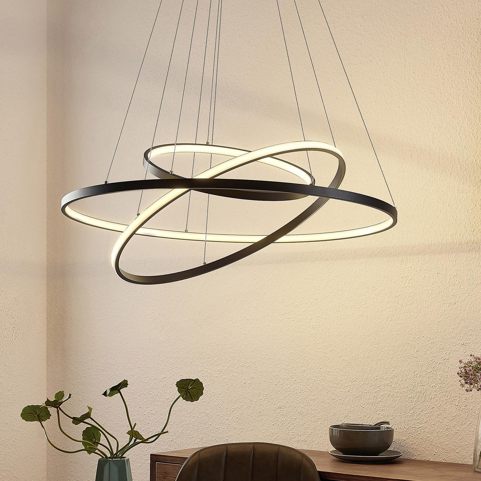 Lucande Filippa LED-Pendelleuchte mit 3 Ringen