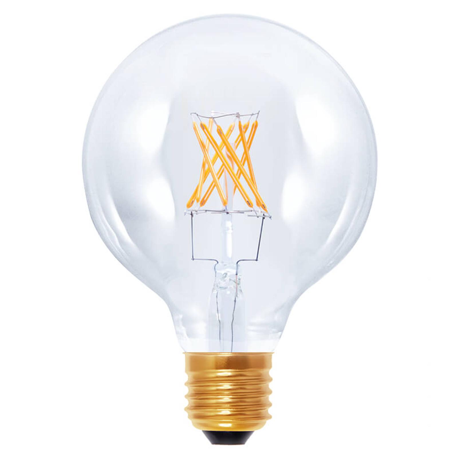 E27 6W 922 LED-globepære G95 i kultrådsoptik