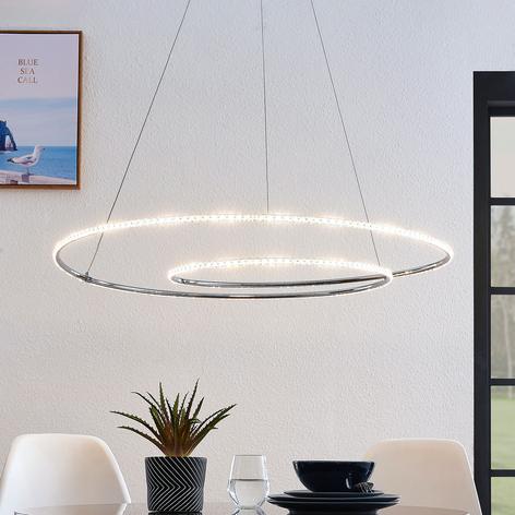 Lindby Lucy LED-Hängeleuchte, 90cm, Kristall