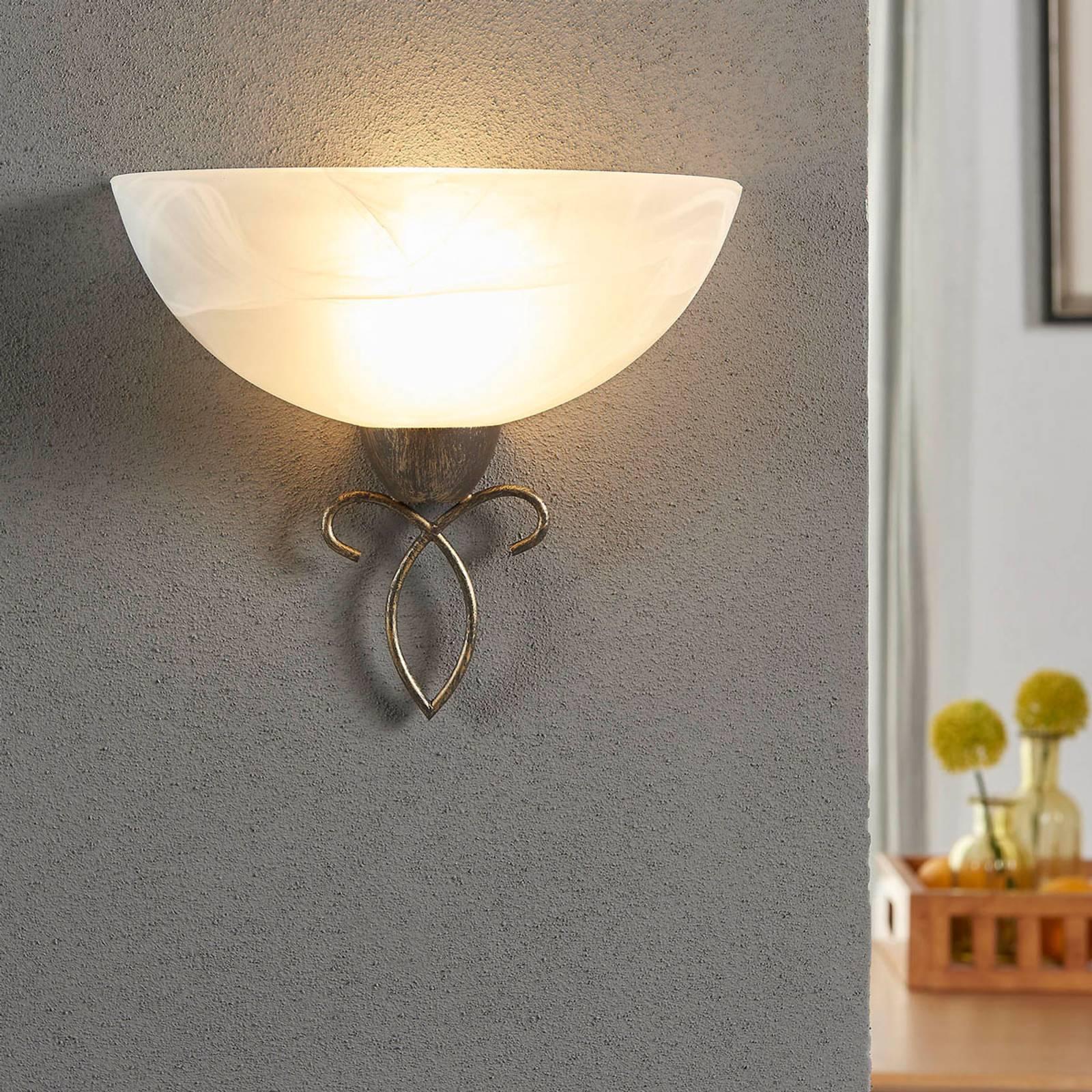 Romantisch overkomende wandlamp Mohija