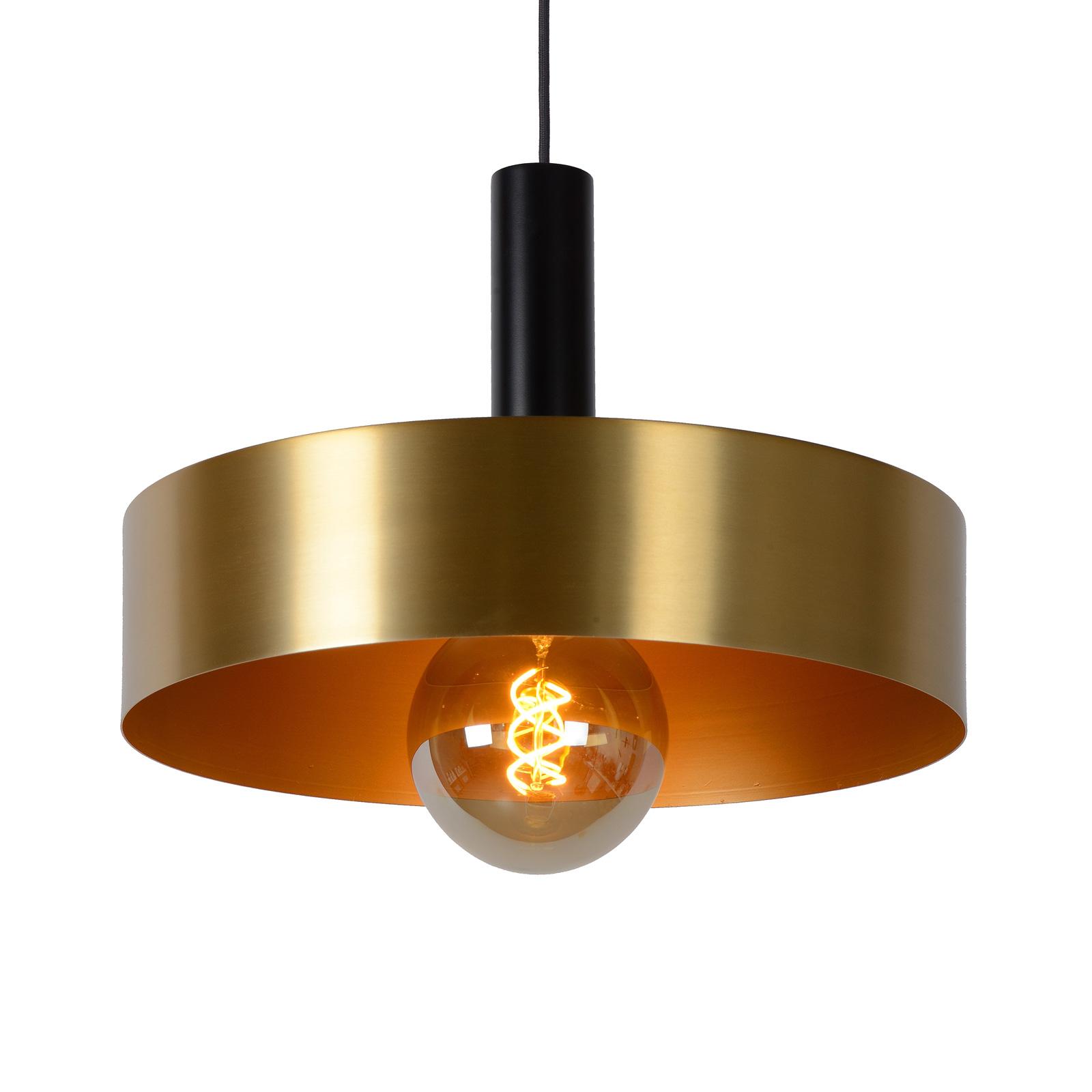 Lampa wisząca Giada czarna złota Ø 40 cm