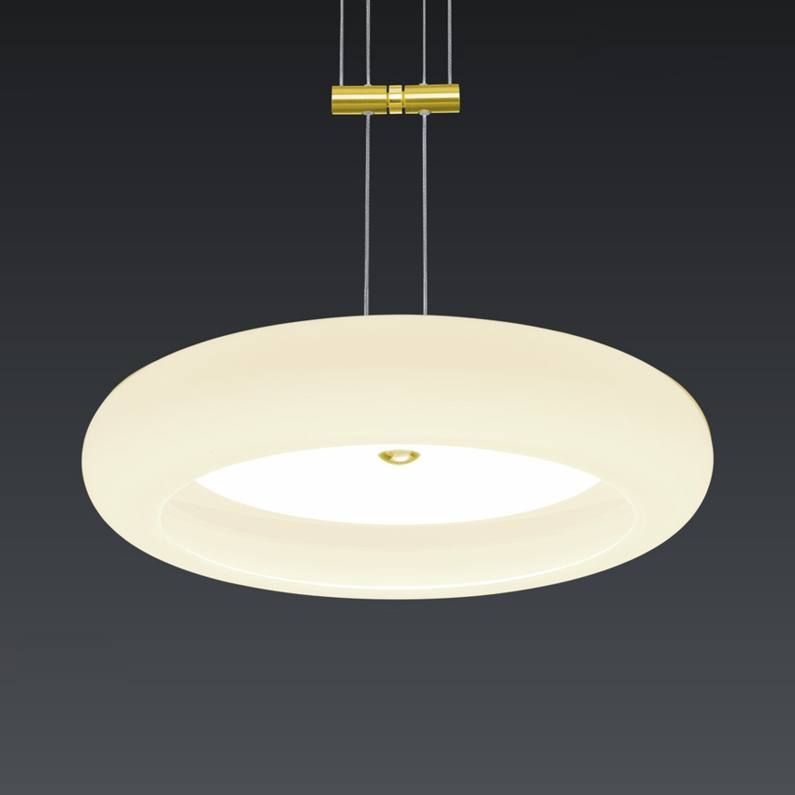 BANKAMP Centa hanglamp 1-lamp 34 cm messing