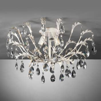 Lámpara de techo Cesta, 3 luces con cristales