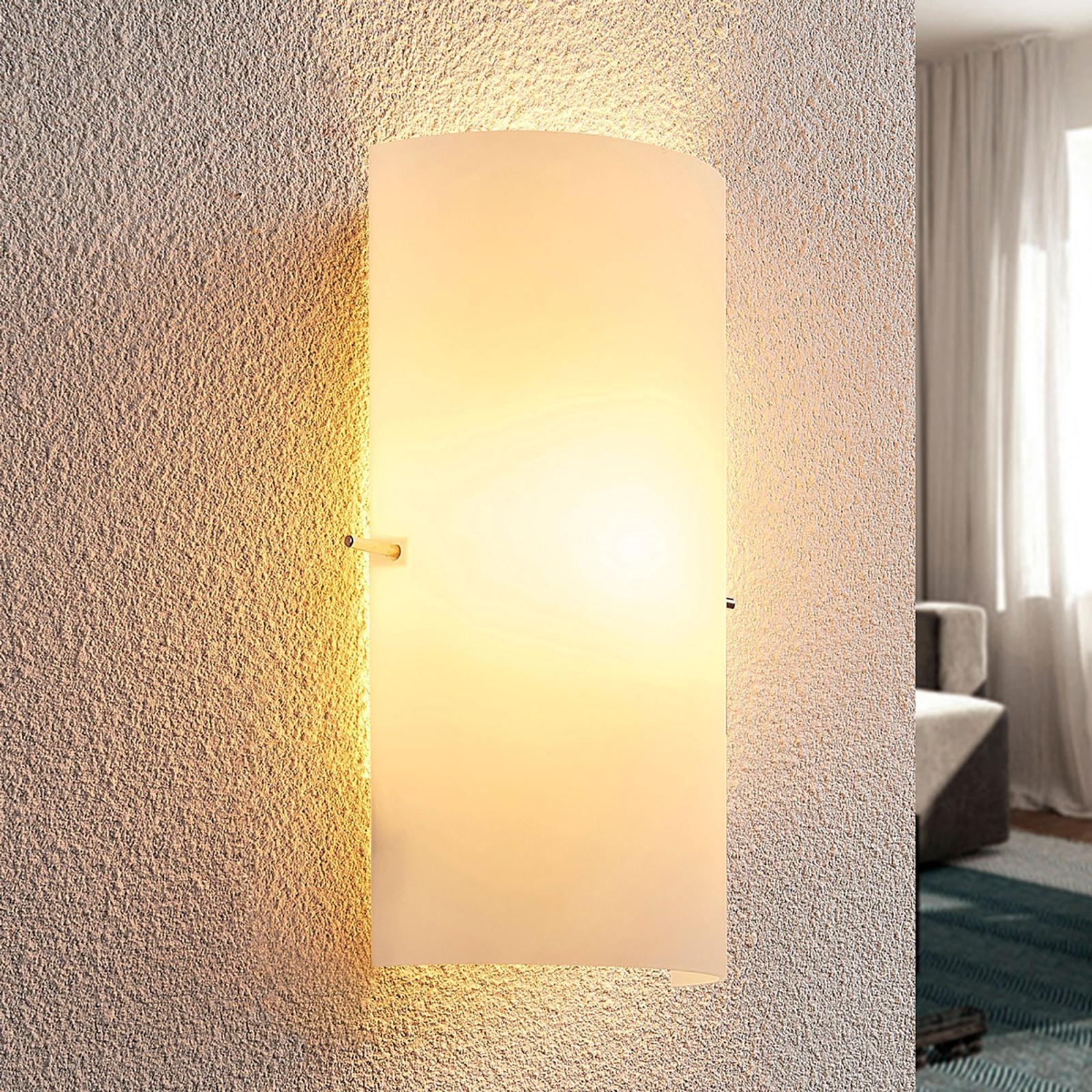 Skleněné nástěnné světlo Tuli