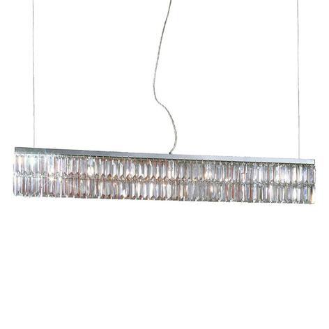 Chroomkleurige hanglamp PRISMA, kristal