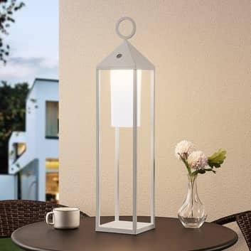 Lucande Miluma lanterna LED esterni, 64 cm, bianco
