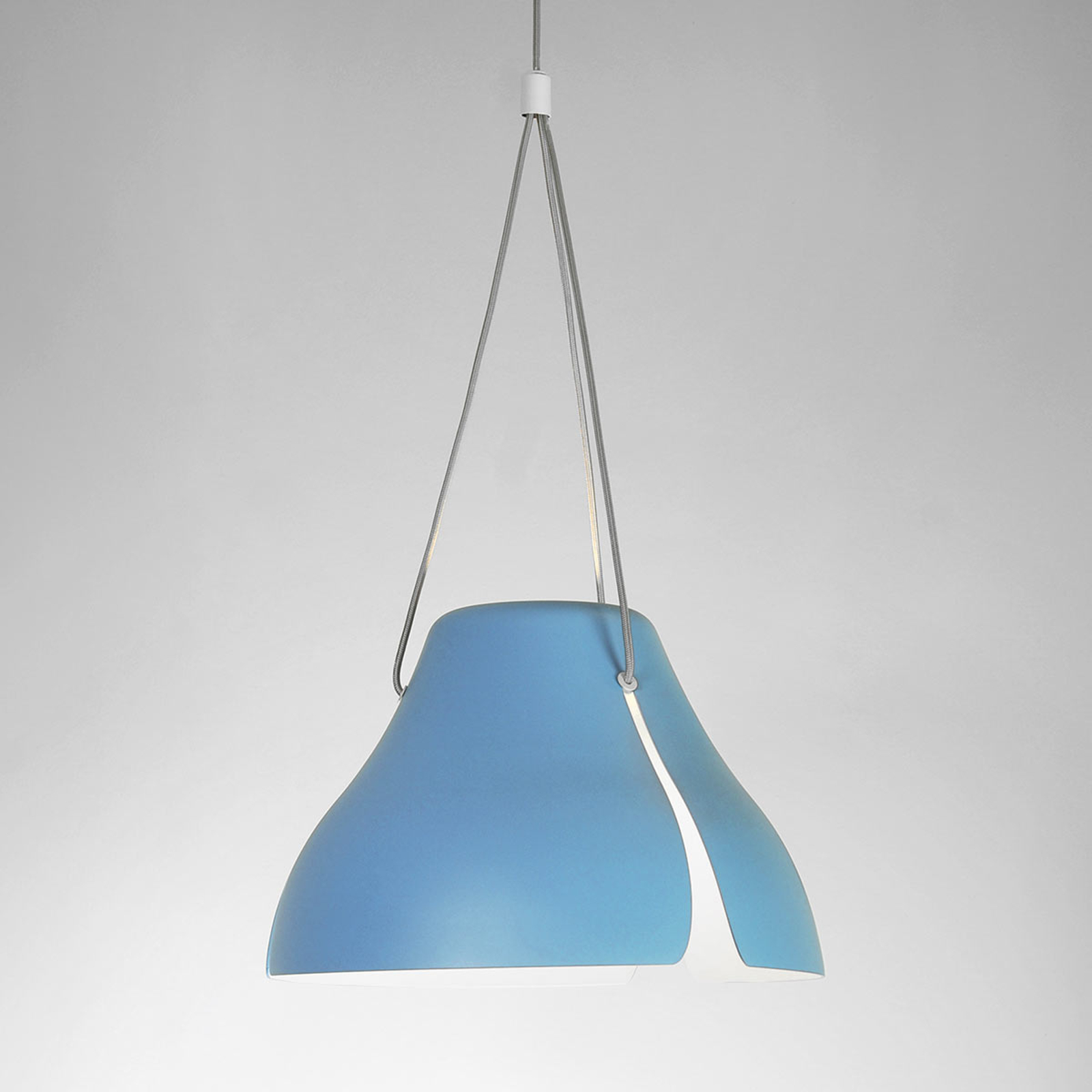 Suspension LED Gingko S40 40 cm bleue