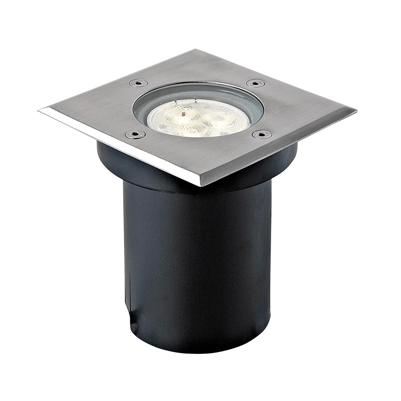 Kantet LED-gulvinnbyggingslampe Ava, IP67