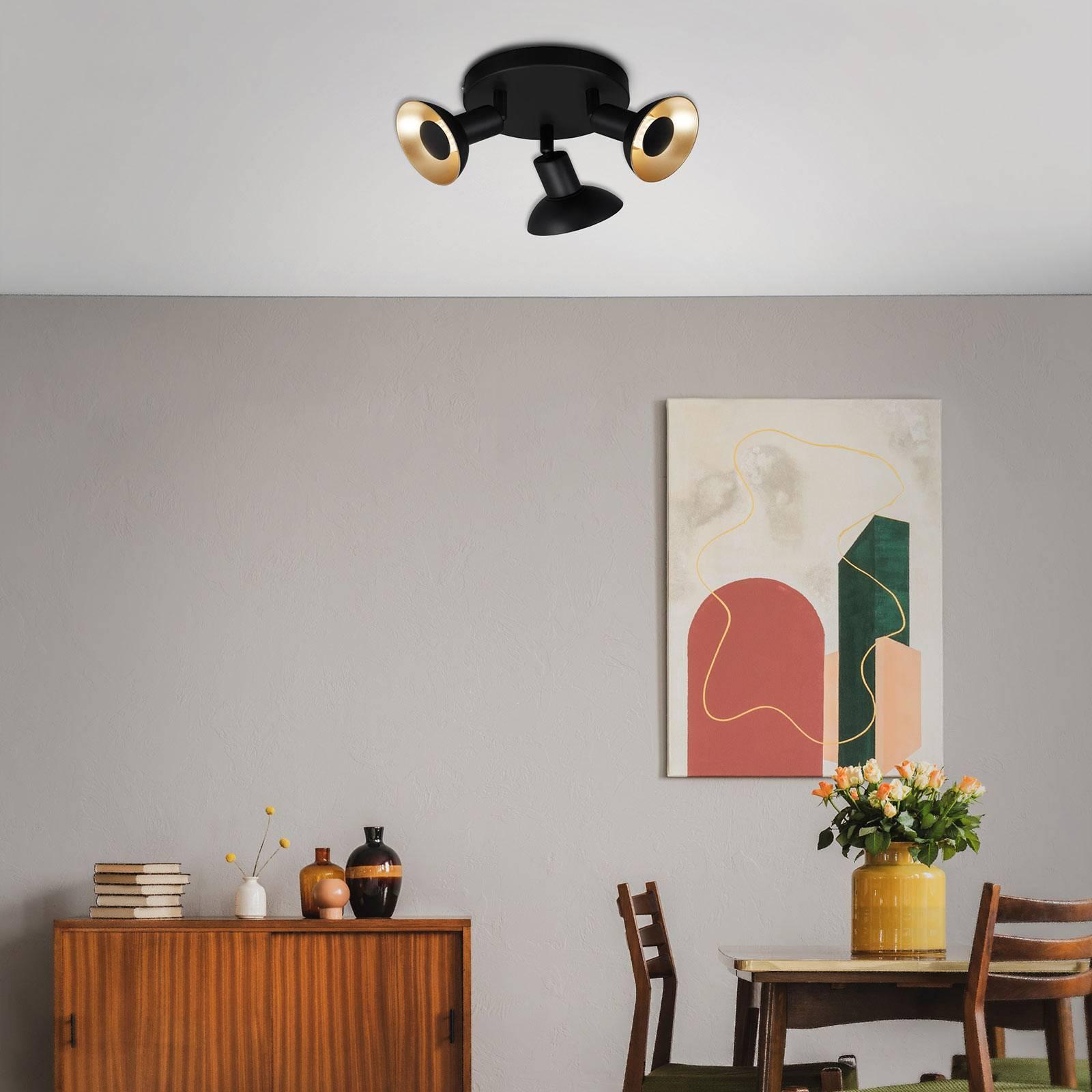 Lampa sufitowa LED Kukui, okrągła, 3-punktowa