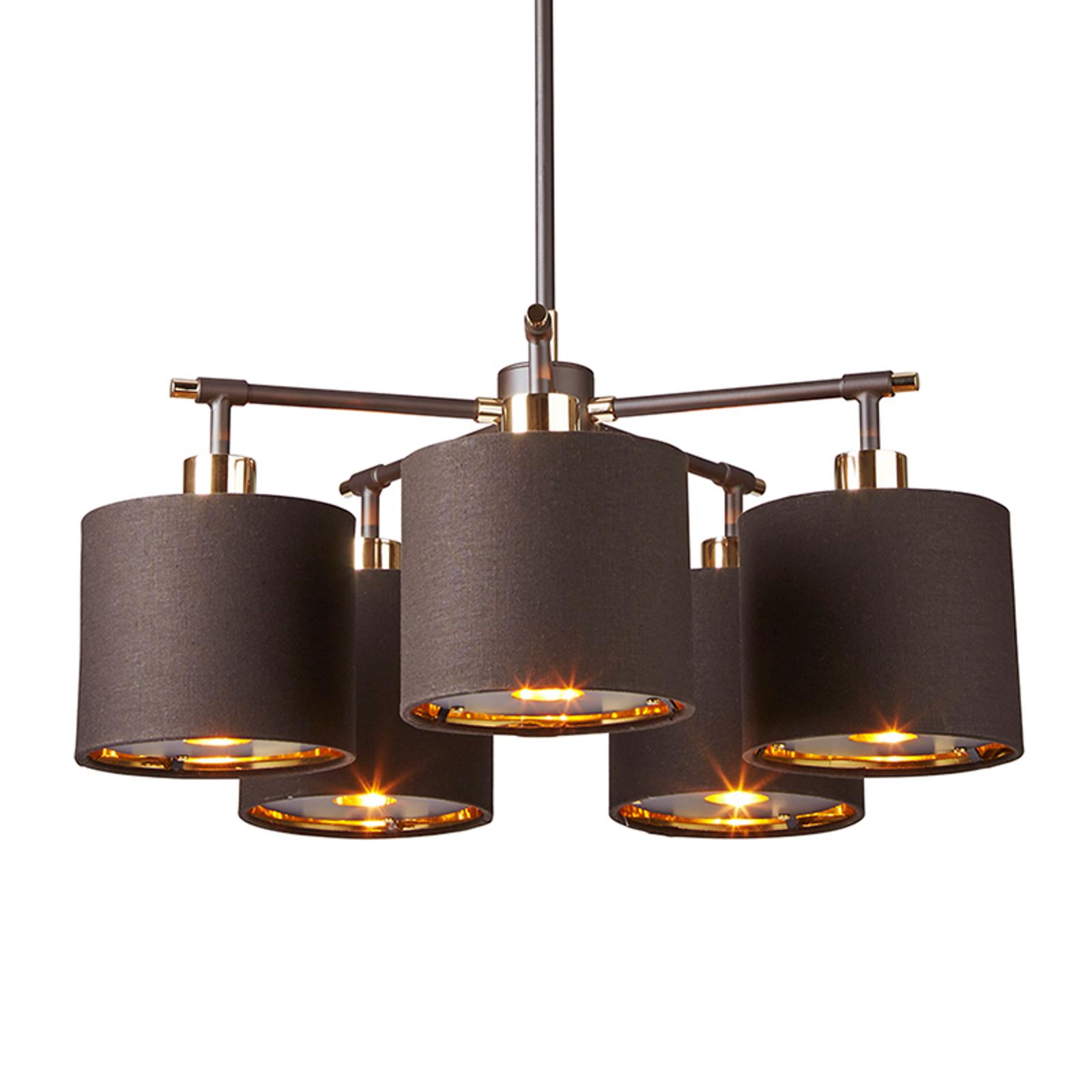 Balance – 5-punktowa lampa wisząca, mosiądz