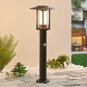 Lampa cokołowa LED Gregory szara, z czujnikiem