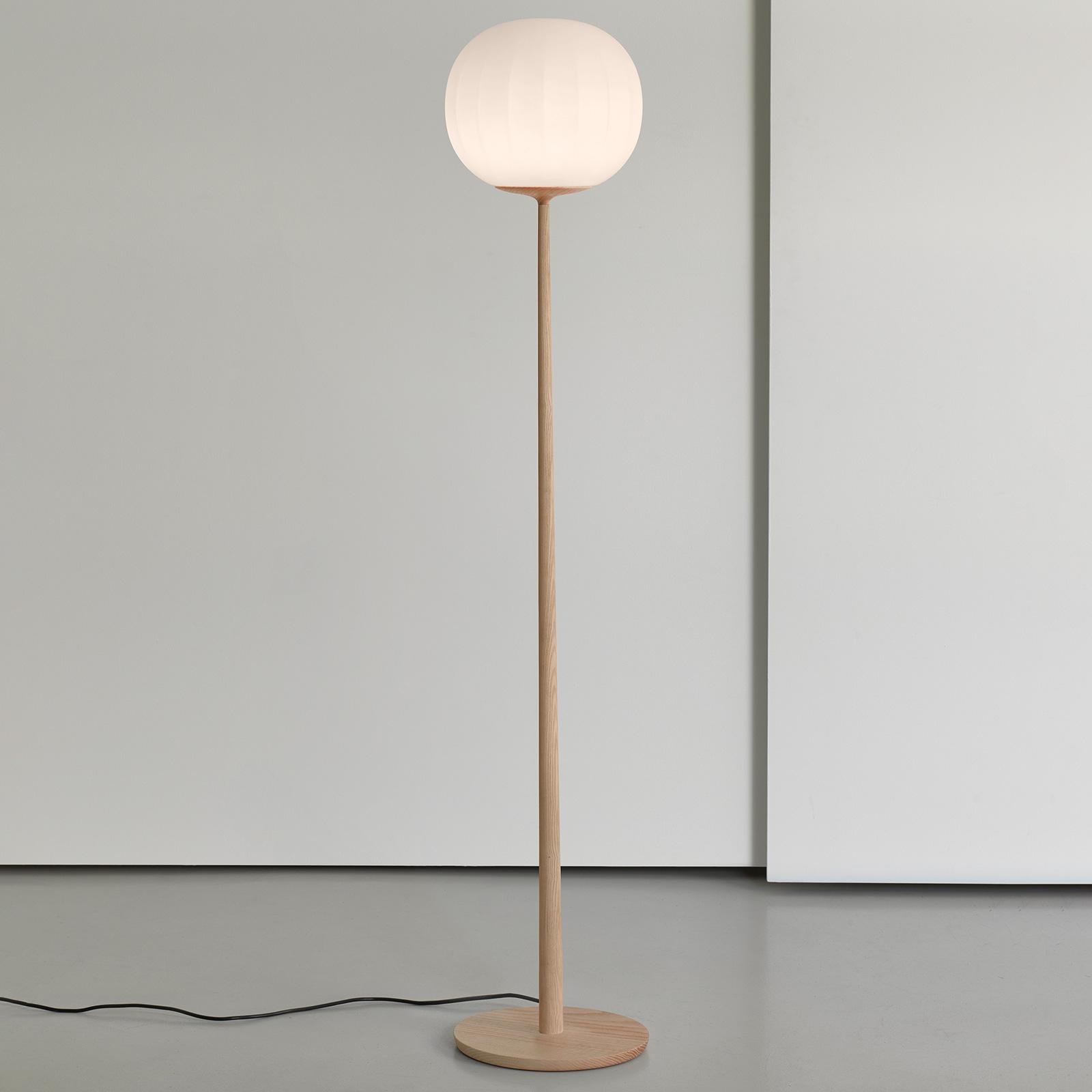 Luceplan Lita lampa stojąca klosz 42 cm, jesion
