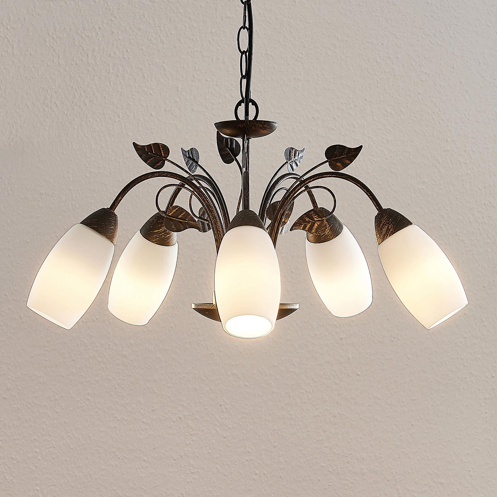 Lindby Isalie LED-hengelampe, 5 lyskilder