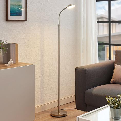 Lampada LED da lettura Giacomo, flessibile, nichel