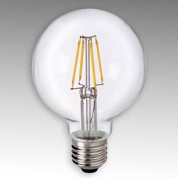E27 4,5W 827 LED Globe G80 čirá