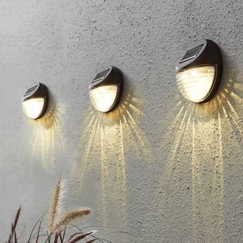Fency - LED-solcellevegglampe i sett på 3